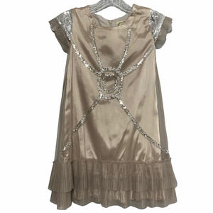 Joyfolie Mia Joy Formal Sheer Ruffle Sequin Dress